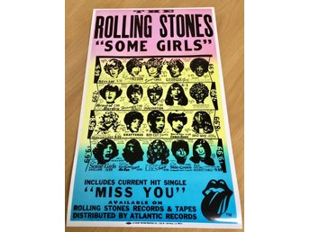 ROLLING STONES SOME GIRLS 1978 GLOSSY PHOTO POSTER