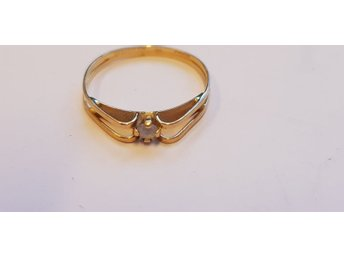 Ring 18k kattfot 0,8g 15,5mm 10775-6