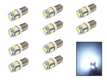 BA9S 10-pack 12000k Led med 5st SMD5050 chip T4W styling