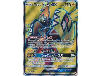 Tapu Koko GX - 135/145 - Full Art Ultra Rare Sun & Moon: Guardians Rising