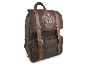 Officiell Harry Potter Hogwarts FlapOver Backpack Ryggsäck Skolväska Vegan Läder