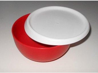 Tupperware jättefin röd burk Cocoon 550ml ... HELT NY - Fagersta - Tupperware jättefin röd burk Cocoon 550ml ... HELT NY - Fagersta