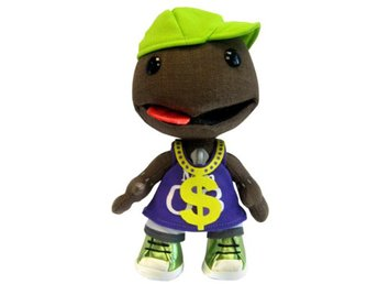 Little Big Planet 2 Sackboy Plush: Rapper (Official) (Ny)