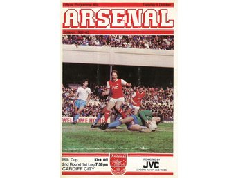 Program: Arsenal - Cardiff City (Milk cup - 5.10.1982)