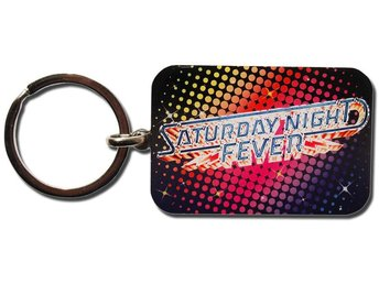 Saturday Night Fever Keyring. Metal Disco Nyckelring