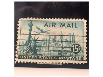 Frimärke United States postage AIR MAIL 15 C