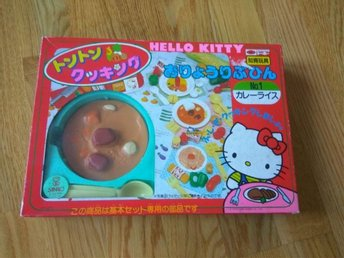 Japan Hello kitty Food mat Leksak Toys Originalkartong Vintage Retro 1988