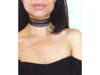 Trendigt Halsband Choker Casual Rep Svart Multilayer