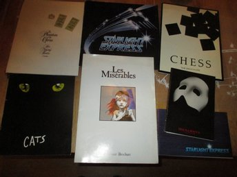Souvenirprogram, Musical, Cats, Chess, Starlight express, m fl