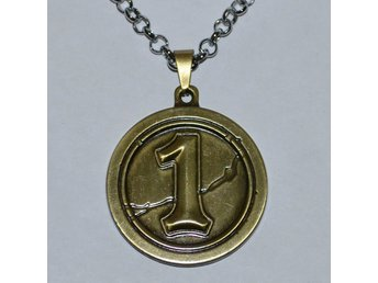 The Coin, Myntet Runt fr. Hearthstone Halsband Brons Vintage Ny