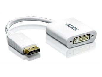 Javascript är inaktiverat. - Höganäs - ATEN DisplayPort to DVI adapter, PC Up to UXGA,1080p Aten DisplayPort till DVI-adapter, DisplayPort ha, DVI-I ho, 1080p i 60Hz, DP 1.1a, DVI 1.1, vitVC965 är en DisplayPort till DVI-adapter som ger dig mà jligheten att ansluta en DVI-monit - Höganäs