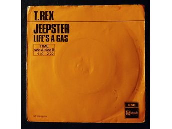 "T-REX  ""Jeepster""     1971  Holland    7"" single    orangesleeve"