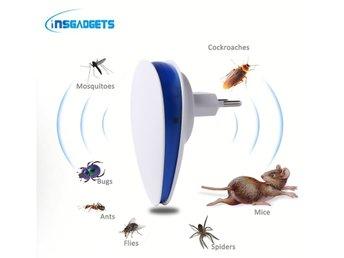 Javascript är inaktiverat. - Klagshamn - Detta är en ny och effektiv insektsskrämma som kopplas in i ett vanligt eluttag och ger ifrån sig ultraljud på 45-85KHz som skapar obehag för alla småkryp såsom spindlar, mygg, möss och myror . Metoden är säker och luktfri. Verknings - Klagshamn