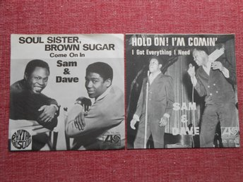 PS-only x 2 Sam & Dave - Hold On I'm Comin' + Soul Sister, Brown Sugar' SWE