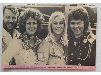 ABBA -VERY RARE ORIGINAL CLIPPING 1974 FROM GDR