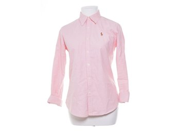 Ralph Lauren, Oxfordskjorta, Strl: 36, Slim Fit, Rosa