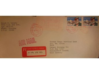 Reg. Airmail Letter USA - West Germany