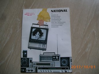 NATIONAL Katalog över TV, Radio, Bandspelare m.m.