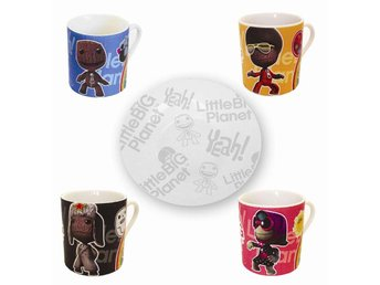 Little Big Planet Collectable Mini Mugs (Includes Saucers) (Official) (Ny)
