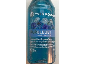 Yves Rocher Pur Bleuet, eye make up remover. Démaquillant express yeux. NY!