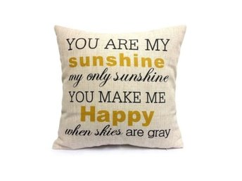 You Are My Sunshine Cotton Linen Pill...