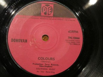 Donovan - Colours / Sing To You (1965) PYE