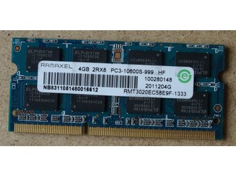 RAM-minne. RAMAXEL, 4Gb, 2Rx8, PC3, 10600S