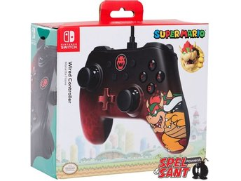 PowerA Nintendo Switch Wired Controller Super Mario Bowser