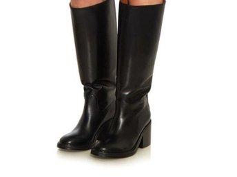 ACNE STUDIOS Egor leather svarta boots, stl 38, nya - Falun - ACNE STUDIOS Egor leather svarta boots, stl 38, nya - Falun