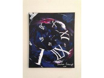 """Abstrakt tavla, målad med akryl, """"Lost in time"""" - Tyresö - Abstrakt tavla, målad med akryl, """"Lost in time"""" - Tyresö"""