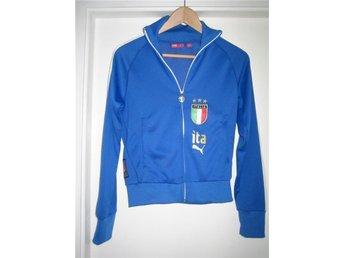 Puma zip-tröja Italien fotbollströja blå retro - Malmö - Puma zip-tröja Italien fotbollströja blå retro - Malmö