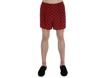 Dolce & Gabbana - Red Black Polka Dotted Silk Pajama Shorts