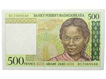 MADAGASKAR  - 500    FRANCS  1994