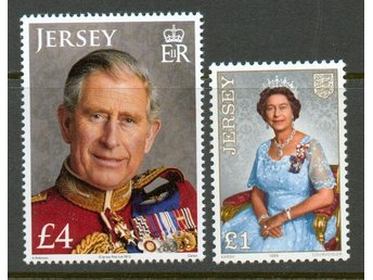 Jersey. Queen Elisabeth and Charles. ** nominal 55kr.