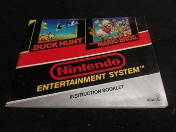 Super Mario Bros/Duck Hunt - NES 8-bit SCN Manual/instruktionsbok