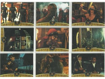 9 st  THE MUMMY RETURNS SAMLARKORT  - LOT NR 3