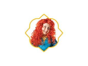 DISNEY Modig Merida PERUK Disney Princess prinsessa