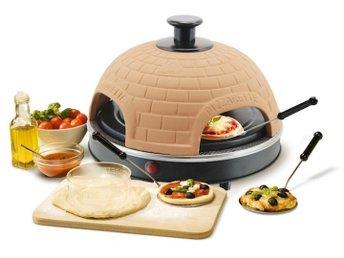 Emerio Pizzarette pizza oven with terracotta dome around for 4 people - Solna - Emerio Pizzarette pizza oven with terracotta dome around for 4 people - Solna