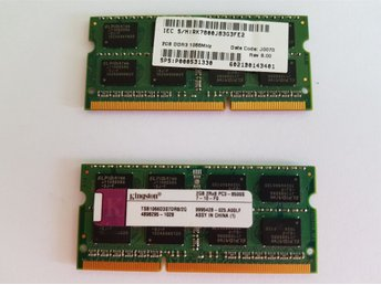 2 x 2GB RAM MINNE  Kommer ifrån Toshiba Satellite Laptop C650