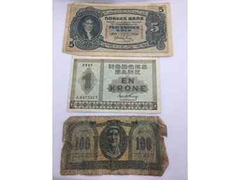 Norge 5 kronor 1935, Norge 1 kronor 1947 mm