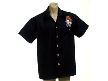 Herr TATTOO skjorta rockabilly / Ace design, limited edition. Omkr 130cm XL/XXL