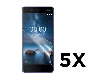 Nokia 8 Fem pack display film - Genomskilnigt