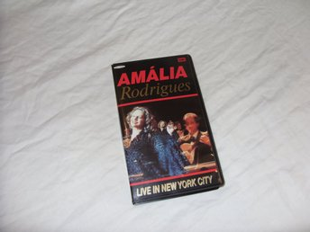 Amalia Rodrigues Live in New York 1990 Fado Musik VHS PAL Portugal