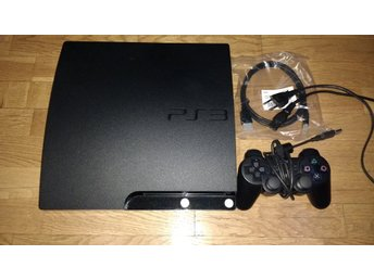 PlayStation 3/PS3 Slim 250GB - med handkontroll & kablage HDMI