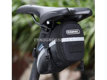 Sadelväska Svart Saddle Seat Cycling Tail Pouch Fri Frakt Ny