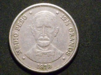 REPUBLICA DOMINICANA 1/2 PESO 1978