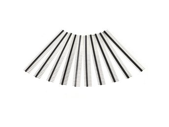 10 Pcs 40 Pin 2.54mm Single Row Male Pin Header Strip For...