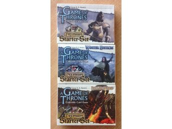 A Game of Thrones CCG Premium Starter Set  - 3 olika