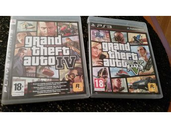 PS3 spel - Grand theft auto 4 och 5