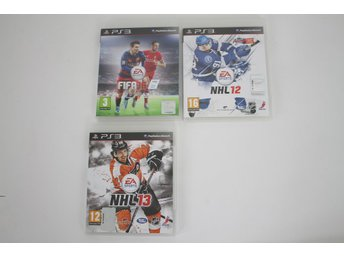 PS3, Playstation 3 / Spelpaket, NHL 12. NHL 13 FIFA16